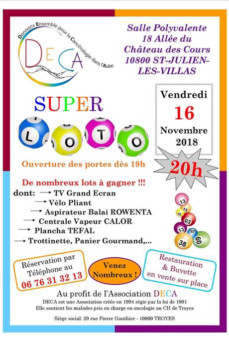 Super Loto de l'association DECA