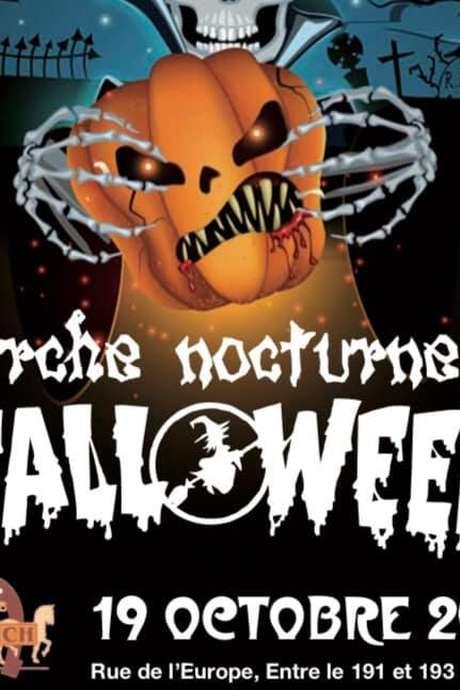 Marche nocturne d'Halloween à Havré