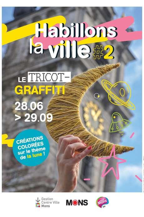 Habillons la ville. Le trico-graffiti à Mons