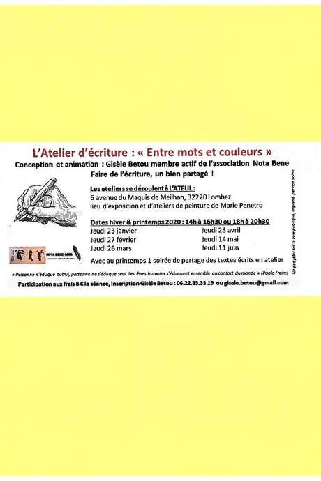 ATELIER D'ÉCRITURE ENTRE MOTS ET COULEURS À L'ATEUL
