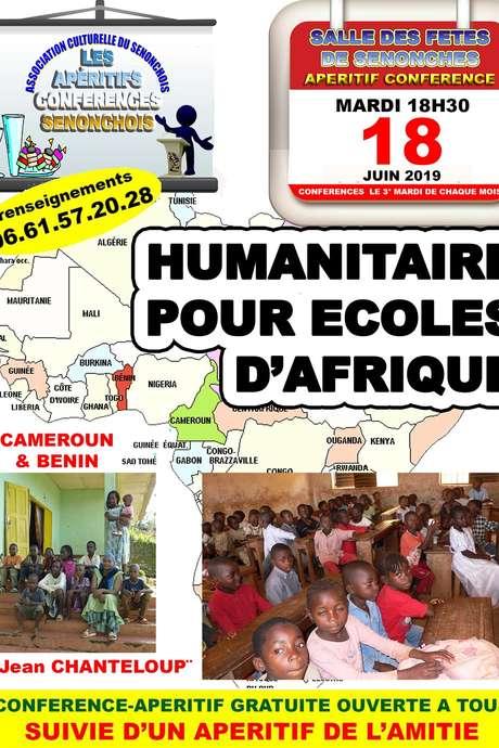Apéritif - Conférence Humanitaire pour écoles d'Afrique