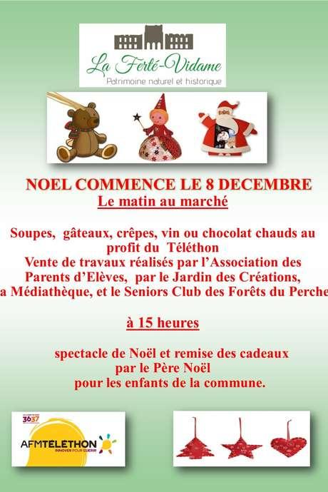 Marché de Noël au profit du téléthon de La Ferté Vidame