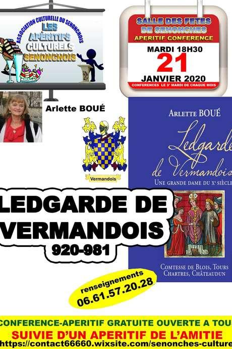 """Apéritif - Conférence """"Ledgarde de Vermandois 920-981"""""""