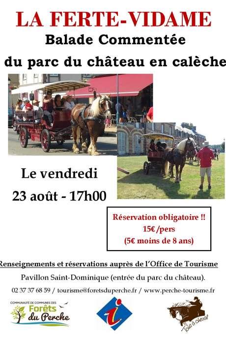 Balade commentée en calèche dans le parc du château de La Ferté Vidame
