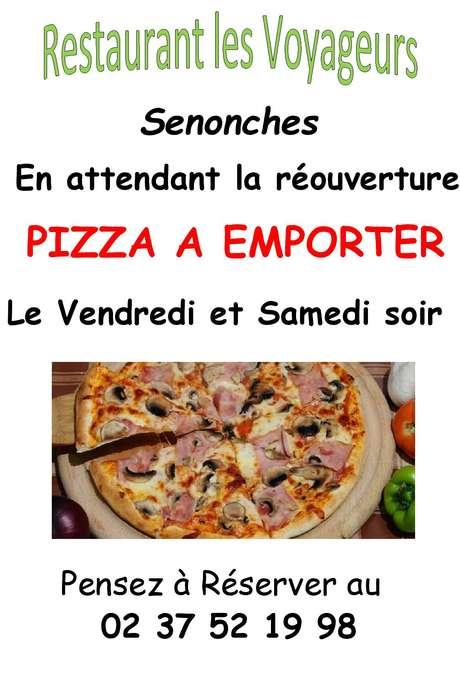 PIzzas à emproter les vendredis et samedis - Restaurant Les voyageurs - Senonches