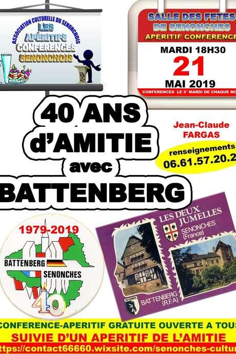 """Conférence - Apéritif """"40 ans d'Amitié avec Battenberg"""