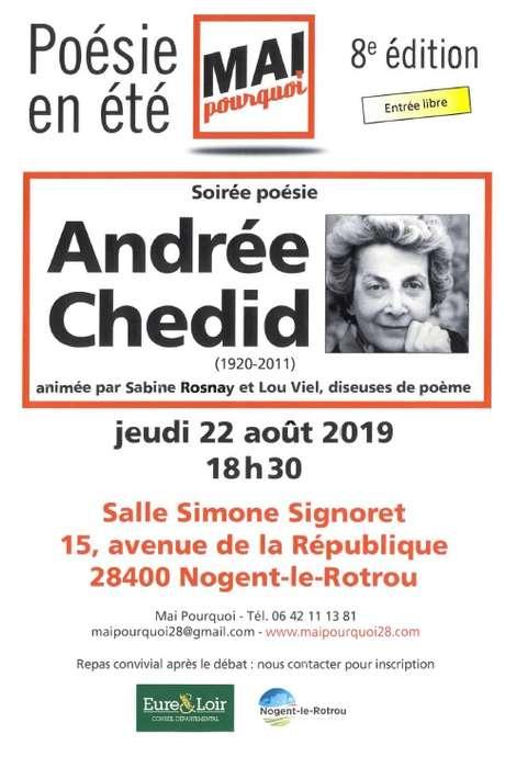 Soirée poésie Andrée Chedid