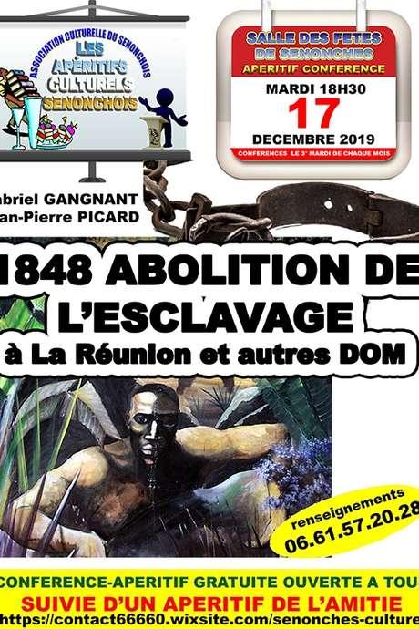 Apéritif-Conférence - 1848 Abolition de l'esclavage à La Réunion et autres DOM