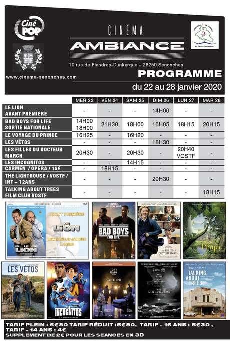 Programme cinéma du 22 au 28 janvier - Senonches