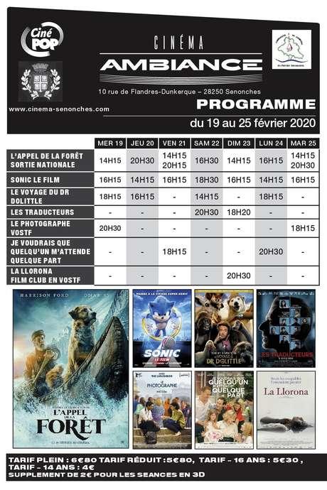 Programme cinéma du - Senonches