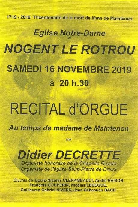 Récital d'orgue au temps de Madame de Maintenon