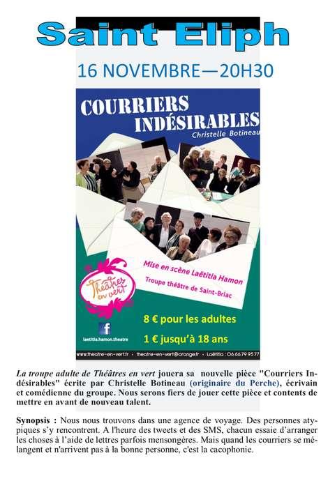 """Pièce de théâtre """"Courriers indésirables"""""""