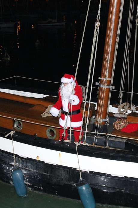 Arrivée du Père Noël sur la Pauline