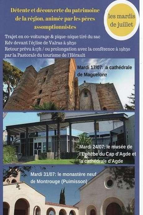 DÉTENTE ET DÉCOUVERTE DU PATRIMOINE DE LA RÉGION PAR LES PÈRES ASSOMPTIONNISTES : LE MUSÉE DE L'EPHÈBE ET LA CATHÉDRALE D'AGDE.