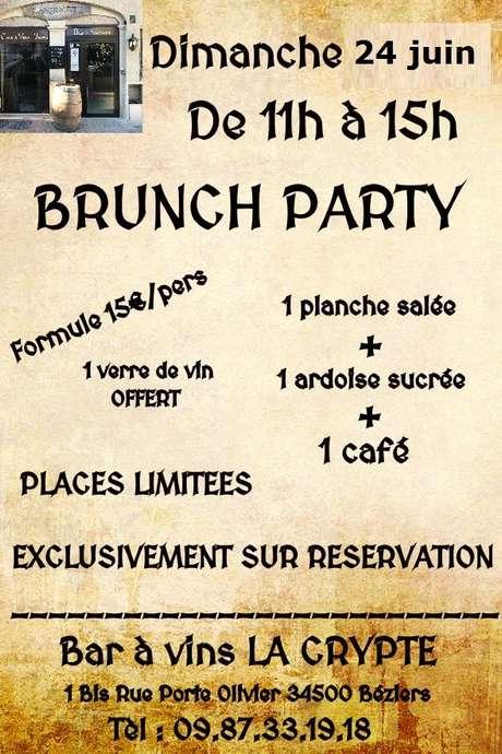 BRUNCH PARTY À LA CRYPTE
