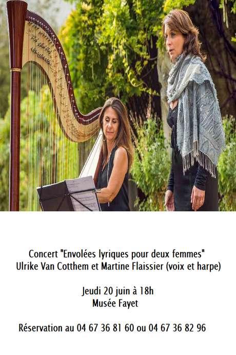 LES CONCERTS AU MUSÉE FAYET : ULRIKE VAN COTTHEM & MARTINE FLAISSIER (VOIX ET HARPE) ENVOLÉES LYRIQUES POUR DEUX FEMMES