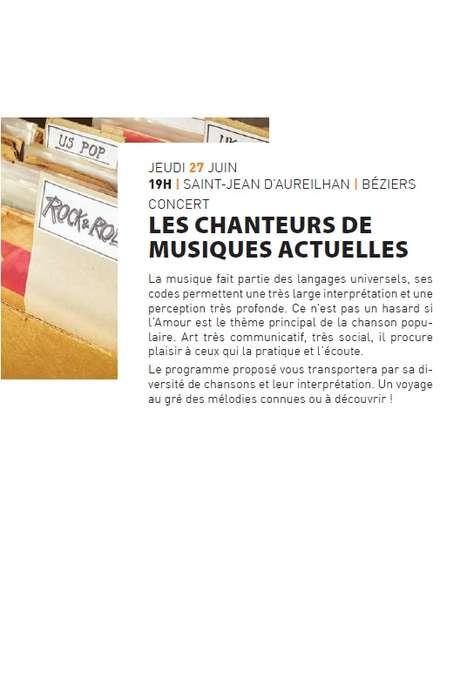 """CONCERT """"LES CHANTEURS DE MUSIQUES ACTUELLES"""""""