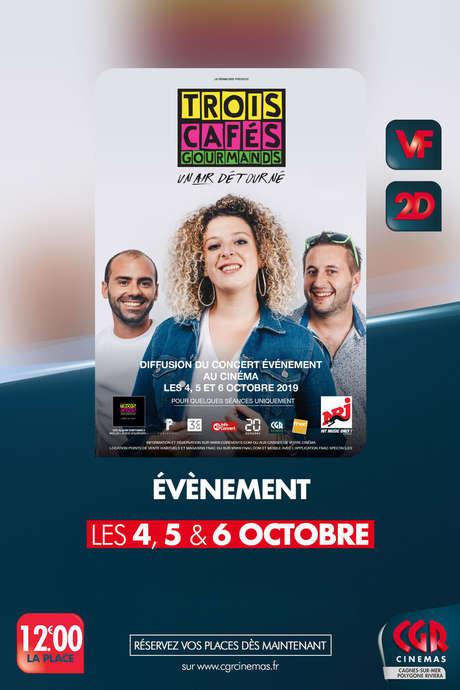 CINÉMA : CONCERT DE TROIS CAFÉS GOURMANDS