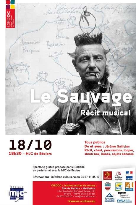 SPECTACLE « LE SAUVAGE - RÉCIT MUSICAL »