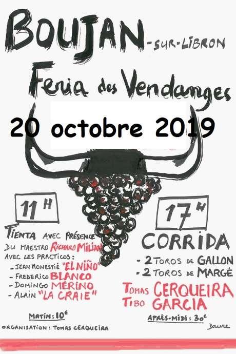 REPORTÉE AU 20 OCTOBRE 2019 // FÉRIA DES VENDANGES