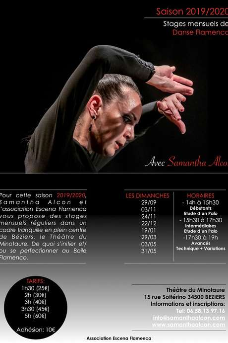 STAGES MENSUELS DE DANSE FLAMENCO (REPORT DES STAGES DE MAI)