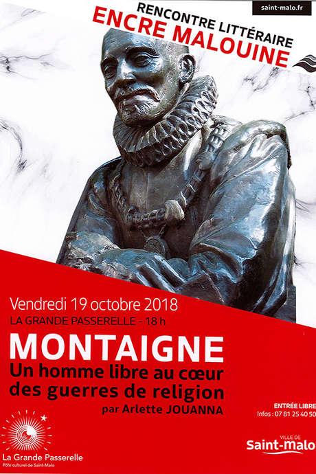 Les rencontres littéraires de l'Encre Malouine : Montaigne par Arlette Jouanna