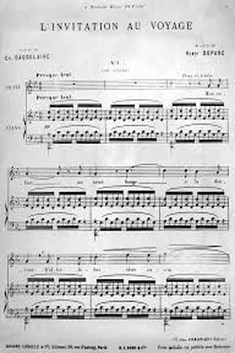 Les poèmes de Baudelaire mis en musique