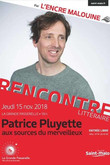 Les rencontres littéraires de l'Encre Malouine : Patrice Pluyette