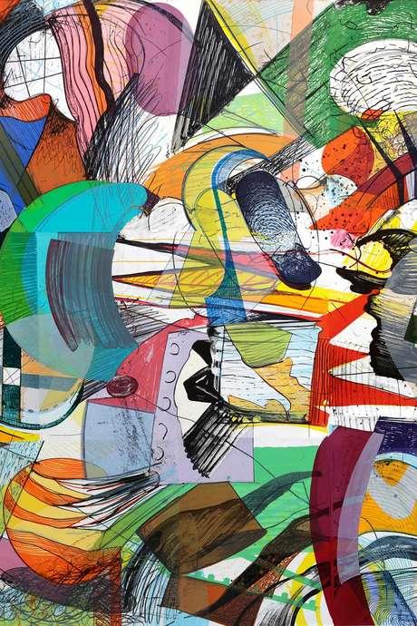 Lars Nørgård. La plus grande lithographie couleur du monde