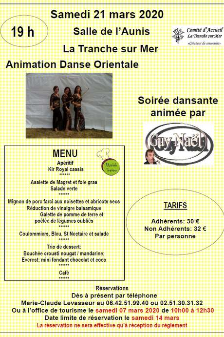 ANIMATION DANSE ORIENTALE ET SOIRÉE DANSANTE