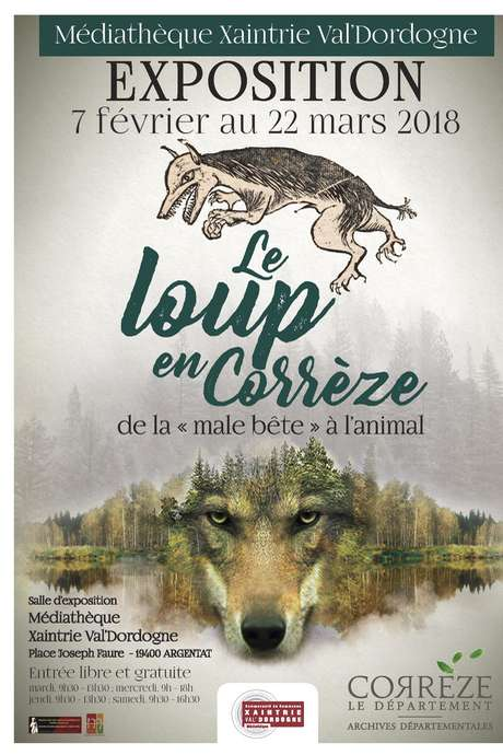 """Exposition : """"Le Loup en Corrèze, de la Mâle-bête à l'Animal"""""""