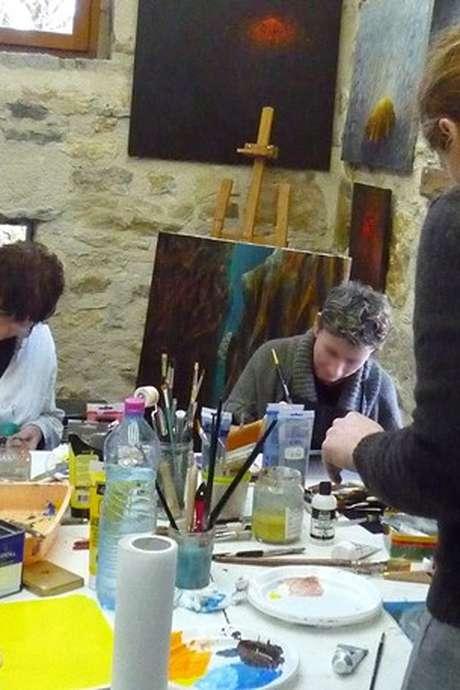 Stage de Peinture avec Françoise Utrel