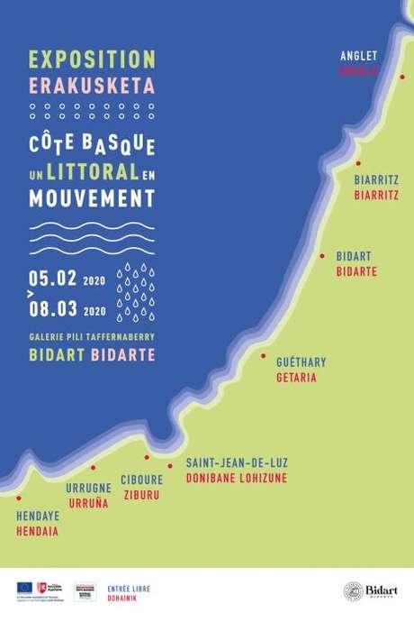 """Exposition """"Côte basque, un littoral en mouvement"""""""
