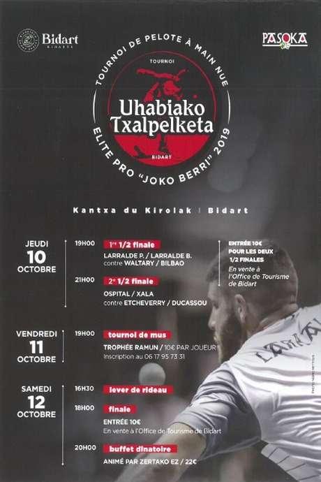 Uhabiako Txapelketa : Demi-finales du tournoi de pelote à main nue Elite Pro