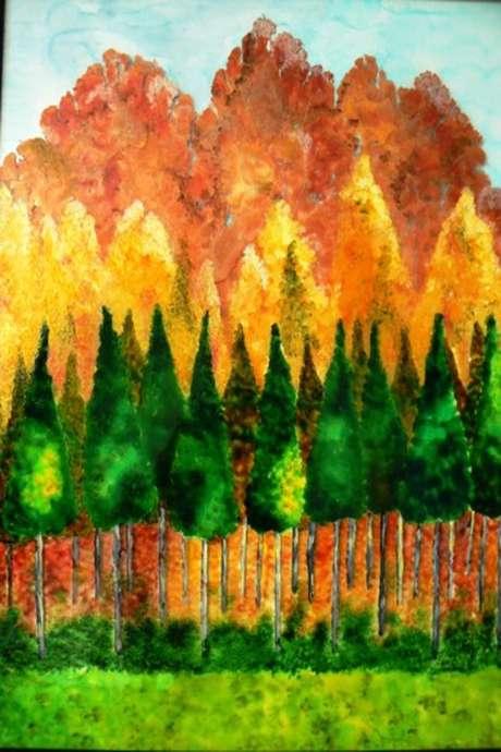 Exposition de Catherine Bosser - Peinture sur verre