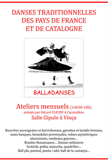 ATELIER DE DANSES TRADITIONNELLES DE FRANCE ET DE CATALOGNE