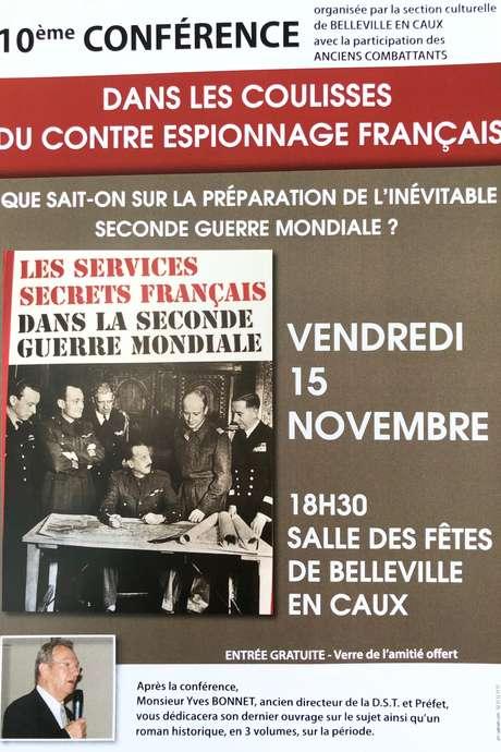 """Conférence """"Dans les coulisses du contre espionnage français"""""""