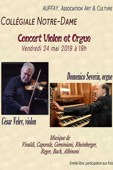 Concert César Velev : violon et orgue