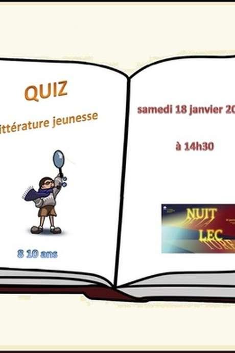 Nuit de la lecture - Quiz littéraire