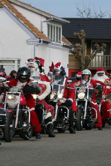 Sortie motos en père Noël