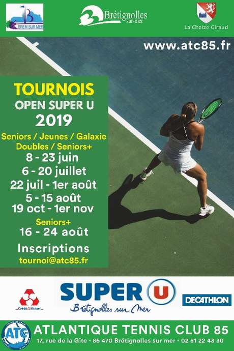 TOURNOI TENNIS OPEN SUPER U