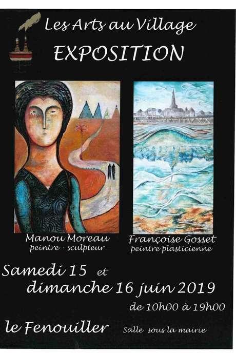 """EXPOSITION """"LES ARTS AU VILLAGE"""" - MANOU MOREAU ET FRANÇOISE GOSSET"""