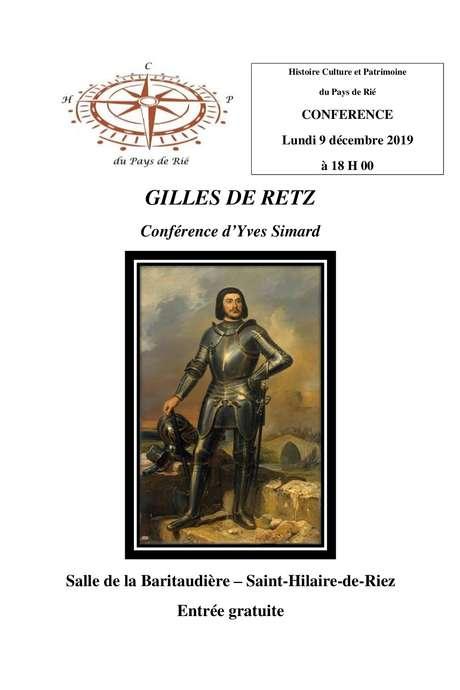 GILLES DE RETZ CONFÉRENCE D'YVES SIMARD