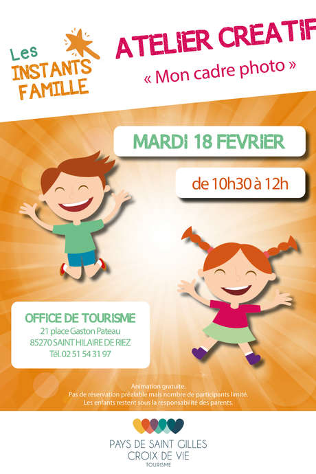 INSTANT FAMILLE : CUSTOMISE TON CADRE PHOTO