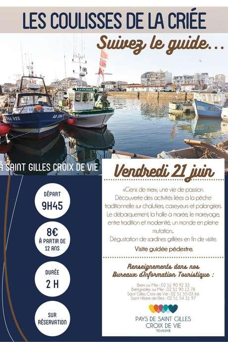 """VISITE GUIDÉE """"LES COULISSES DE LA CRIÉE"""" 21-06-19"""