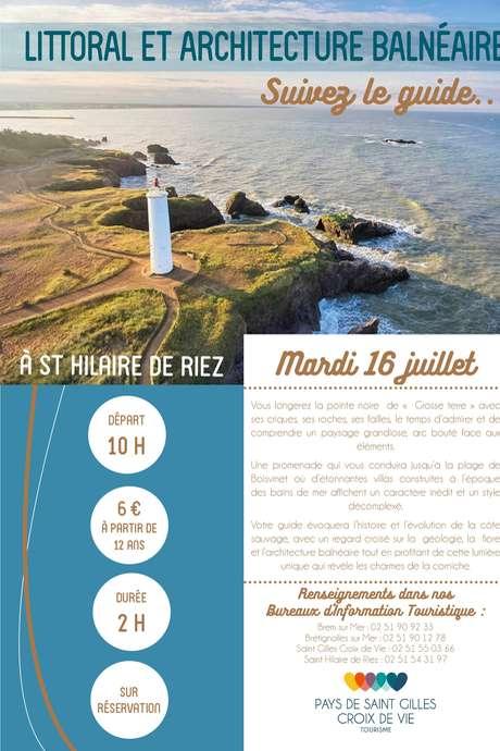 """VISITE GUIDÉE """"LITTORAL ET ARCHITECTURE BALNÉAIRE"""" 16-07-19"""