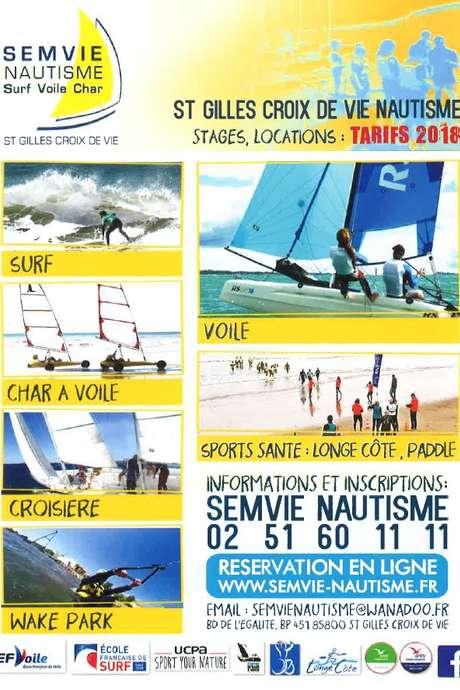 SEMVIE NAUTISME -CROISIERE- SURF - VOILE - CHAR A VOILE
