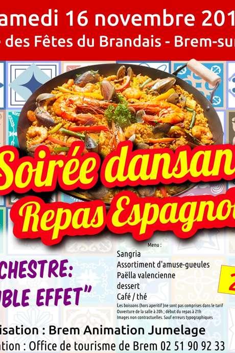 SOIRÉE DANSANTE REPAS ESPAGNOL