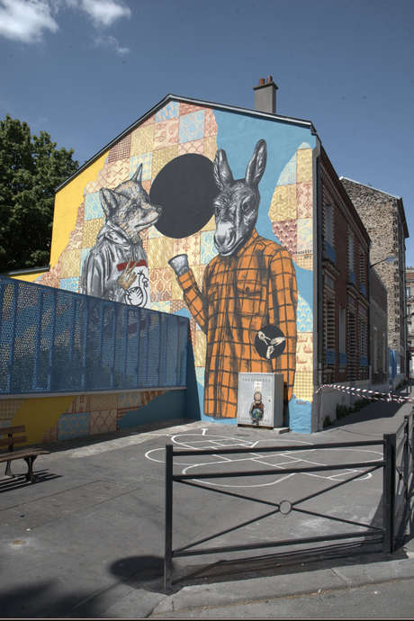Circuit street art au centre de Saint-Denis