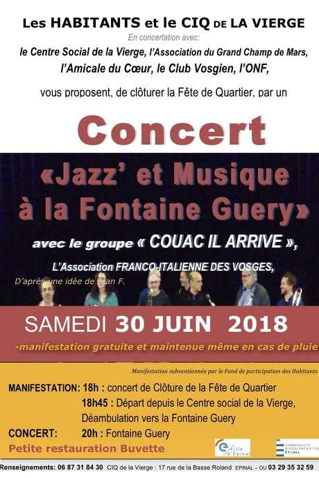 JAZZ ET MUSIQUE À LA FONTAINE GUERY PRÉCÉDÉ D'UNE BALADE MUSICALE